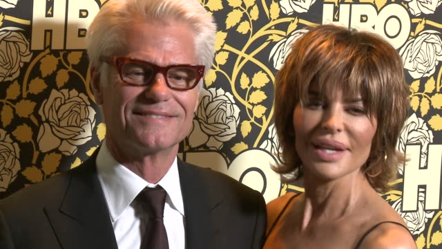 Harry Hamlin and Lisa Rinna at HBO's Post 2016 Golden Globe Awards Party at Circa 55 Restaurant on January 10 2016 in Los Angeles California