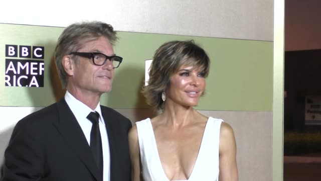 Harry Hamlin and Lisa Rinna at the AMC Networks Emmy After Party at BOA Steakhouse in West Hollywood Celebrity Sightings on September 18 2016 in Los...
