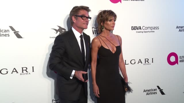 Harry Hamlin and Lisa Rinna at the Elton John AIDS Foundation Presents the 26th Annual Academy Awards Viewing Party on March 04 2018 in West...
