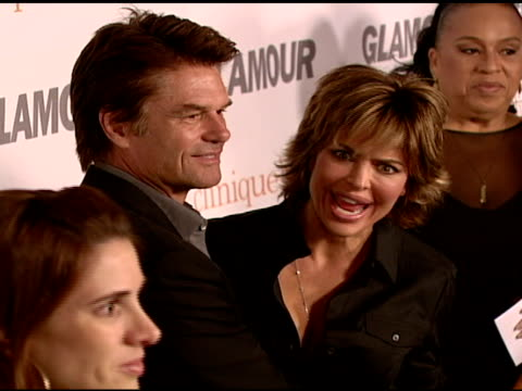 harry hamlin and lisa rinna at the glamour reel moments presented by clinique - kirsten dunst, kate hudson and rita wilson make their directorial... - アメリカ監督組合点の映像素材/bロール