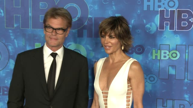 Harry Hamlin and Lisa Rinna at the HBO's Post Emmy Awards Reception Arrivals at The Plaza at the Pacific Design Center on September 18 2016 in Los...
