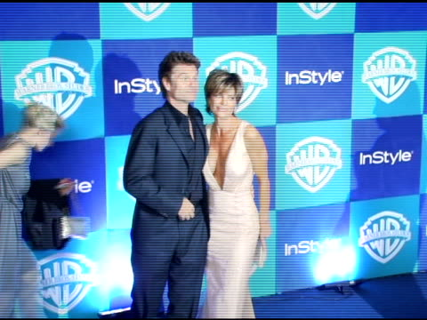 Harry Hamlin and Lisa Rinna at the InStyle/Warner Brothers Golden Globes Party at the Beverly Hilton in Beverly Hills California on January 16 2006