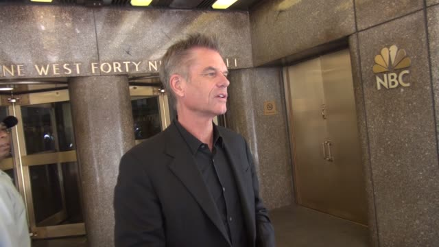 Harry Hamlin exits the NBC Studios in Rockefeller Center and greets fans Celebrity Sightings in New York on May 29 2014 in New York City