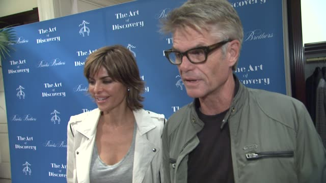 INTERVIEW Harry Hamlin Lisa Rinna on the event at Brooks Brothers Celebrates The Art Of Discovery Book Launch at Brooks Brothers Rodeo on October 23...