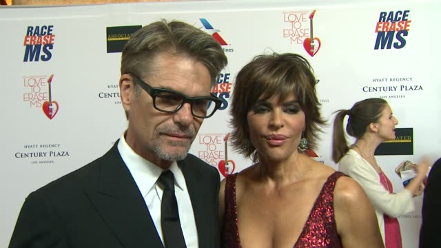 INTERVIEW Harry Hamlin Lisa Rinna on the event at The 20th Annual Race To Erase MS Love To Erase MS on 5/3/13 in Los Angeles CA