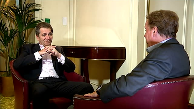 harry kane selected for england team; int harry redknapp interview sot reporter sitting with redknapp redknapp interview sot - ハリー レッドナップ点の映像素材/bロール