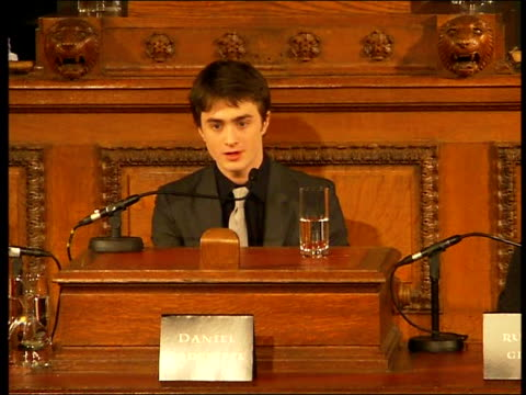 'harry potter and the order of the phoenix' press launch emma watson press conference sot warner brothers have been so supportive of me continuing... - tom chance stock videos & royalty-free footage
