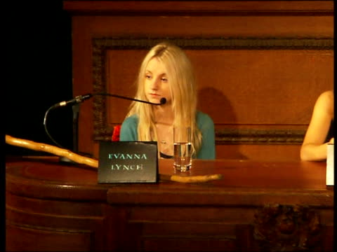'harry potter and the order of the phoenix' press launch rupert grint press conference sot because we're quite busy we do miss out on a little bit... - evanna lynch stock videos & royalty-free footage