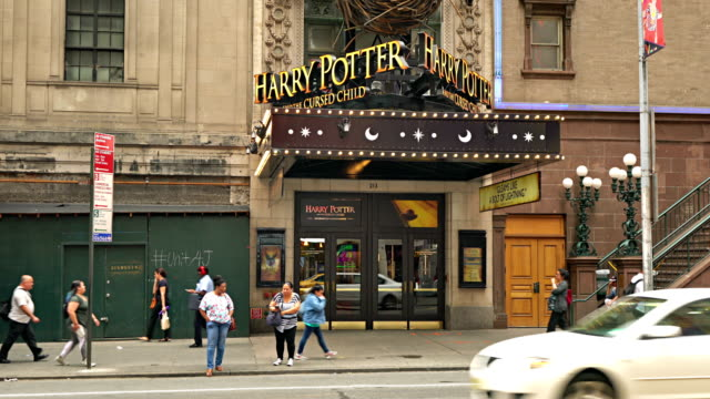 harry potter theather - theatre district stock videos & royalty-free footage