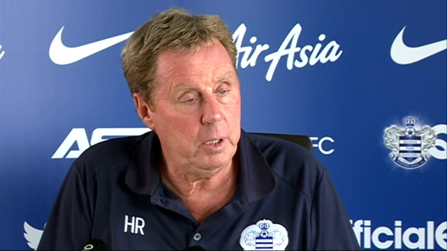 harry redknapp hits out at financial fair play rules; england: london: harlington sports centre: int harry redknapp press conference sot - to make it... - ハリー レッドナップ点の映像素材/bロール