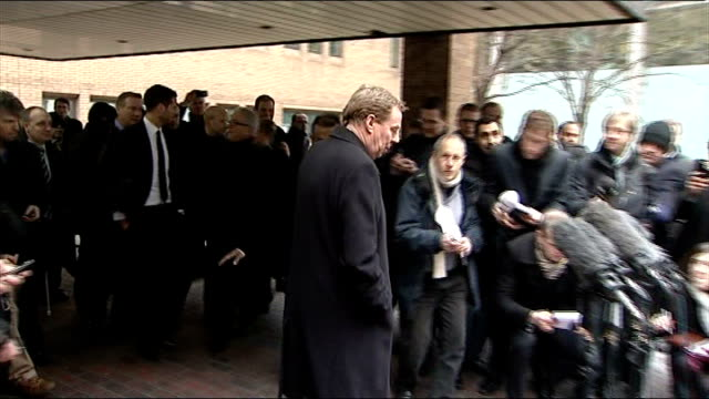 harry redknapp insists there has been no approach regarding england manager job; tx 8.2.2012 southwark crown court: **beware flash photography**... - ハリー レッドナップ点の映像素材/bロール