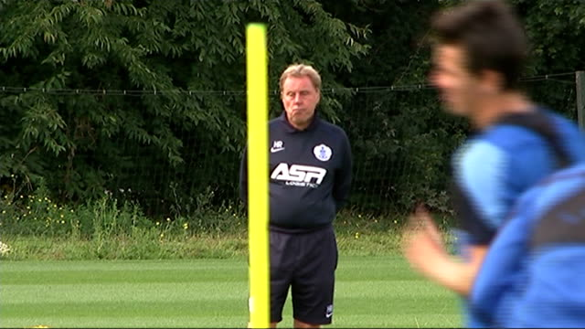 harry redknapp resigns as qpr manager date redknapp at qpr training session - ハリー レッドナップ点の映像素材/bロール