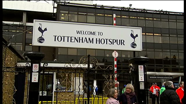 harry redknapp takes over as manager of tottenham hotspur fc white hart lane sign 'welcome to tottenham hotspur' outside stadium people along in... - tottenham hotspur f.c stock videos & royalty-free footage