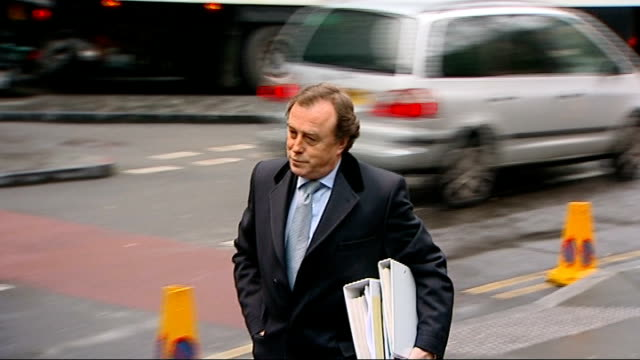 harry redknapp tax evasion trial continues ext/day john kelseyfry qc arriving at court - ハリー レッドナップ点の映像素材/bロール