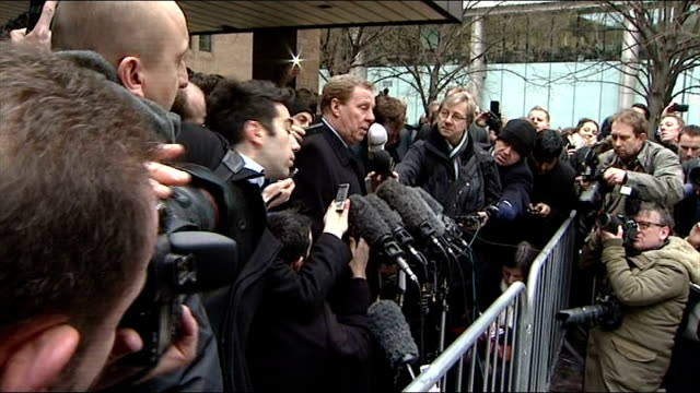 redknapp cleared of tax fraud england london photography ** harry redknapp leaving court to cheers from supporters sot redknapp speaking to press... - リチャード・パロット点の映像素材/bロール