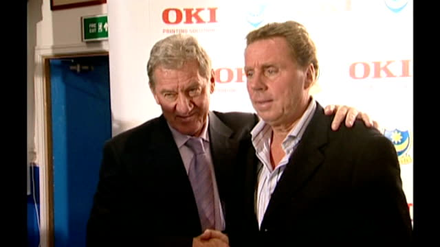 harry redknapp tax evasion trial: redknapp cleared of tax fraud; lib portsmouth: int ** beware flash photography ** mandaric shaking hands with... - リチャード・パロット点の映像素材/bロール