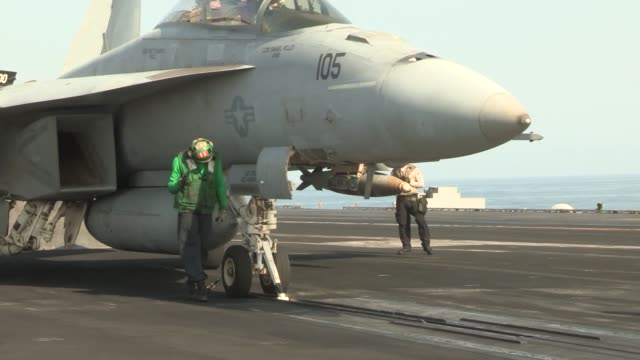 uss harry s truman conducts flight operations in support of operation enduring freedom the uss harry s truman flagship for the harry s truman carrier... - operation enduring freedom stock videos and b-roll footage