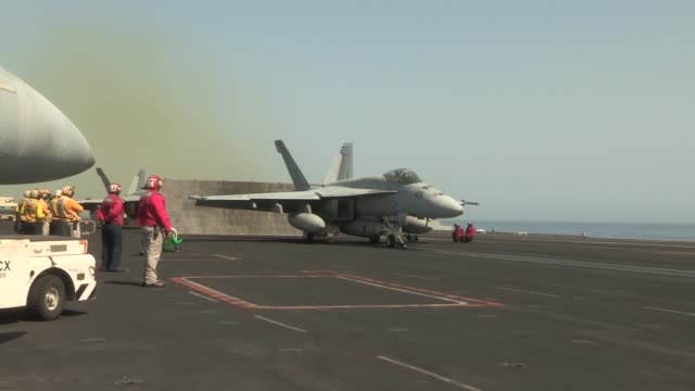 uss harry s truman launches and recovers aircraft in support of operation enduring freedom the uss harry s truman flagship for the harry s truman... - operation enduring freedom stock videos & royalty-free footage