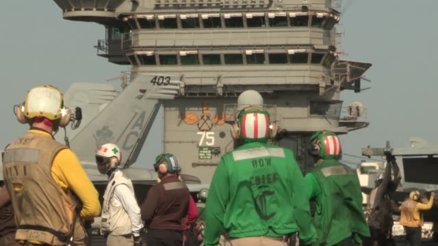 uss harry s truman launches and recovers aircraft in support of operation enduring freedom the uss harry s truman flagship for the harry s truman... - operation enduring freedom stock videos and b-roll footage