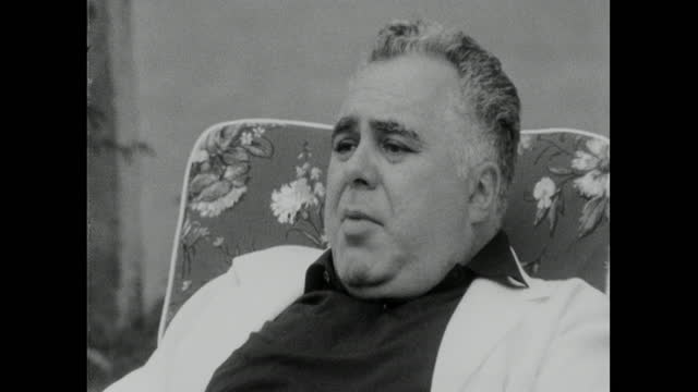 harry saltzman responds to accusations that the james bond films lack morals and are a corrupting influence. he feels they reflect the times he is... - 50 54 years stock videos & royalty-free footage