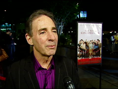 vídeos de stock e filmes b-roll de harry shearer on the creation of his character the pleasure of working with guest and levy and how the film works as a satire at the 'for your... - director's guild of america