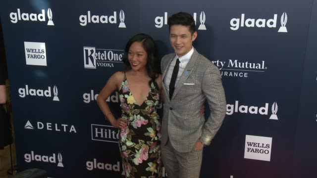 harry shum jr and shelby rabara at the 28th annual glaad media awards at the beverly hilton hotel on april 01 2017 in beverly hills california - shelby stock videos & royalty-free footage
