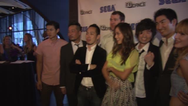 Harry Shum Jr Jamie Chung and Bella Thorne at Sega GO DANCE Mobile Game Unveil Party on September 05 2013 at STK New York New York