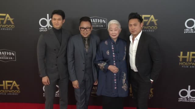Harry Shum Jr Nico Santos Lisa Lu and Jon M Chu at the 22nd Annual Hollywood Film Awards at The Beverly Hilton Hotel on November 04 2018 in Beverly...