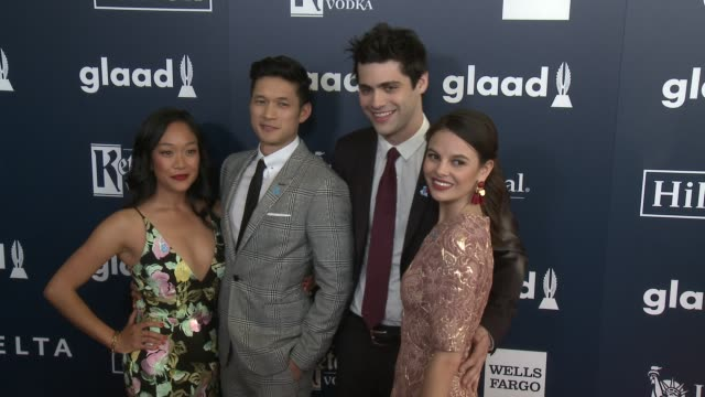 harry shum jr shelby rabara matthew daddario and esther kim at the 28th annual glaad media awards at the beverly hilton hotel on april 01 2017 in... - shelby stock videos & royalty-free footage