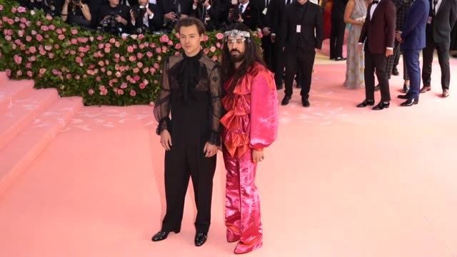 Harry Styles and Alessandro Michele at The 2019 Met Gala Celebrating Camp Notes on Fashion Arrivals at Metropolitan Museum of Art on May 06 2019 in...
