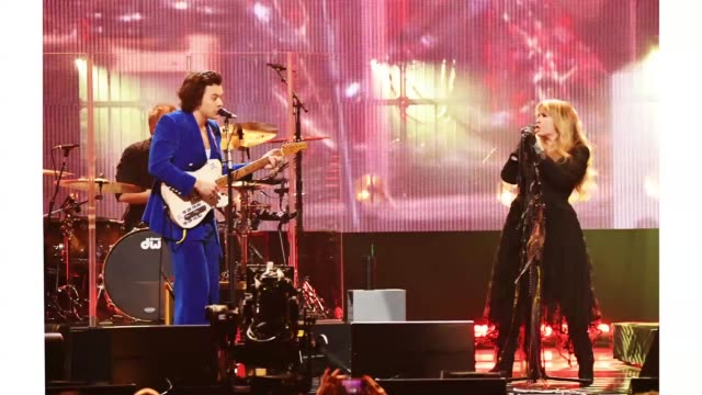 harry styles and inductee stevie nicks perform at the 2019 rock roll hall of fame induction ceremony show at barclays center on march 29 2019 in new... - hall of fame stock videos and b-roll footage