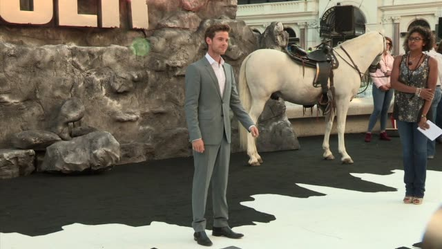 harry treadaway at the lone ranger uk premiere a at odeon leicester square on july 21 2013 in london england - the lone ranger 2013 film stock videos and b-roll footage