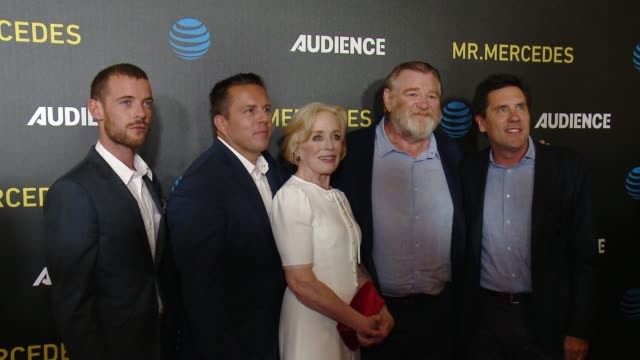 "Harry Treadaway Holland Taylor Brendan Gleeson at ATT AUDIENCE Network's ""Mr Mercedes"" Premiere in Los Angeles CA"