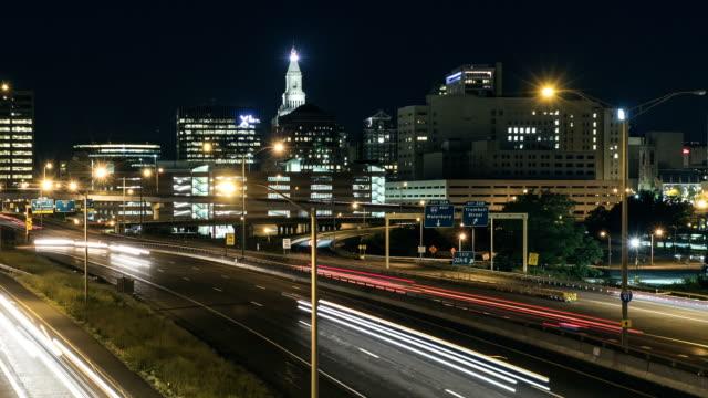 Hartford at night