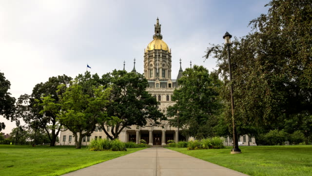 hartford, ct capitol time-lapse day to night - connecticut stock videos & royalty-free footage