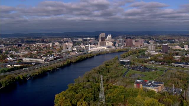 Hartford uit het Oosten - luchtfoto - Connecticut, Hartford County, Verenigde Staten
