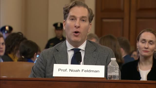 harvard law professor noah feldman tells the house judiciary committee at its first public impeachment inquiry hearing against president donald trump... - plastic bag stock videos & royalty-free footage
