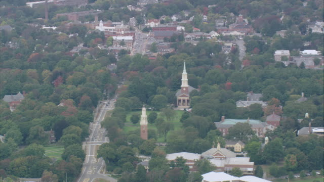 aerial harvard university and surrounding area / cambridge, massachusetts, united states - harvard university stock videos & royalty-free footage