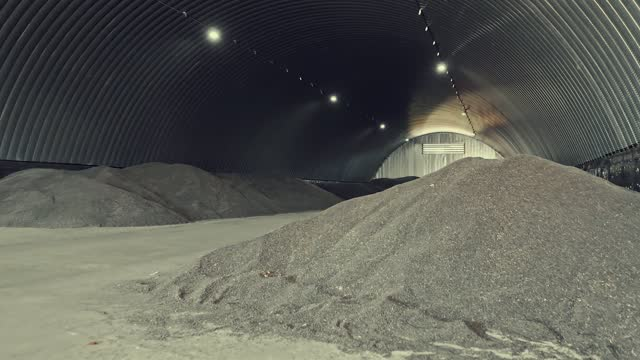 harvest storage in an arched hangar - cereal plant stock videos & royalty-free footage