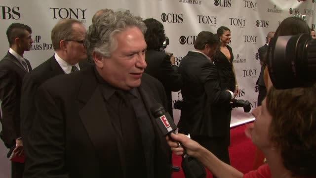 Harvey Fierstein and Karen Olivo at the 63rd Annual Tony Awards Red Carpet at New York NY