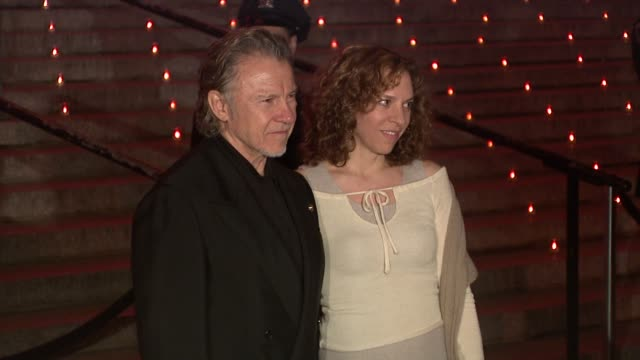harvey keitel and daphna kastner at the 8th annual tribeca film festival - vanity fair party at new york ny. - ハーヴェイ カイテル点の映像素材/bロール