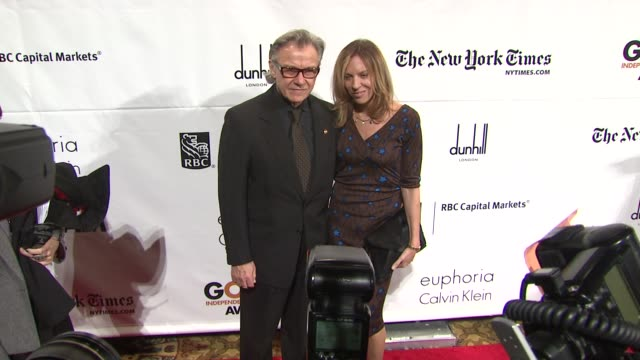 harvey keitel and daphna kastner at the ifp's 20th annual gotham independent film awards at new york ny. - ハーヴェイ カイテル点の映像素材/bロール