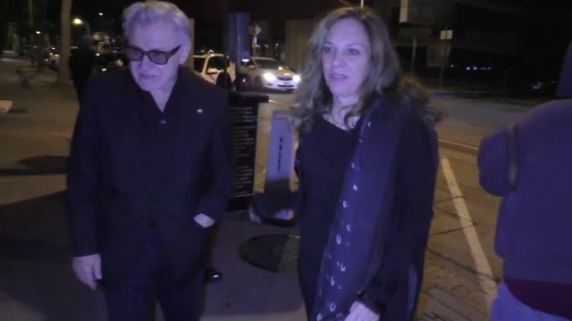 harvey keitel & daphna kastner arrive for dinner at craig's restaurant in los angeles in celebrity sightings in los angeles, - ハーヴェイ カイテル点の映像素材/bロール