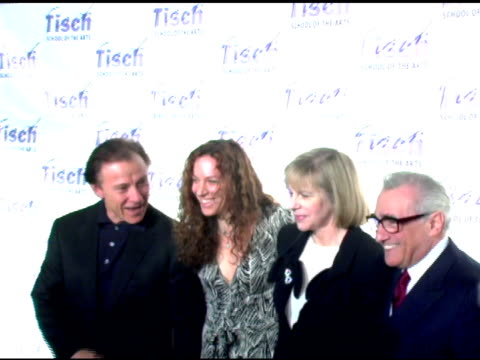 harvey keitel, daphna kastner, helen morris and martin scorsese at the 'on location: tisch ny gala' dinner benefitting tisch school of the arts and... - ハーヴェイ カイテル点の映像素材/bロール