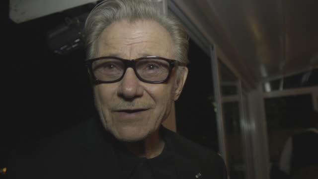 harvey keitel on being on stage in the ancient greek theatre at 62nd taormina film fest on june 14, 2016 in taormina, italy. - ハーヴェイ カイテル点の映像素材/bロール