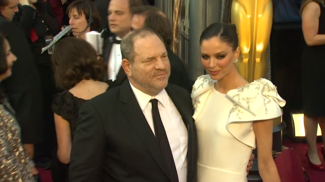harvey weinstein and georgina chapman at 84th annual academy awards - arrivals on 2/26/12 in hollywood, ca. - academy awards video stock e b–roll