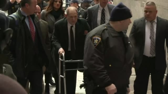 harvey weinstein arrives for the start of his sex crimes trial more than two years after a slew of allegations against the once mighty hollywood... - social movement stock videos & royalty-free footage