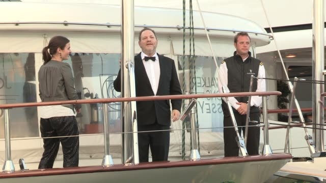 harvey weinstein at celebrity sightings on may 17 2013 in cannes france - celebrity sightings stock videos & royalty-free footage