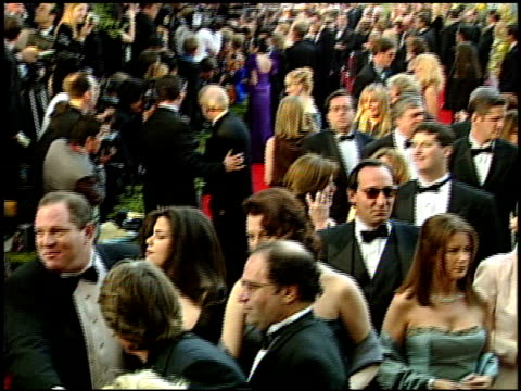 harvey weinstein at the 1999 academy awards at the shrine auditorium in los angeles california on march 21 1999 - 71st annual academy awards stock videos & royalty-free footage