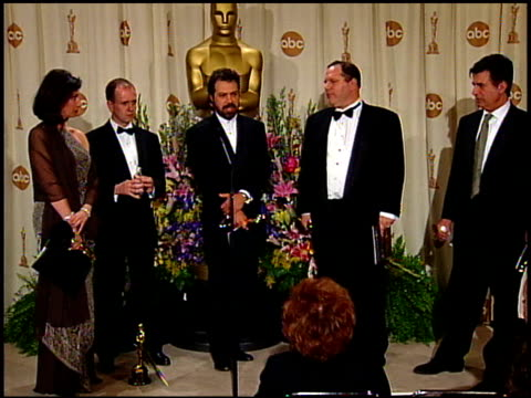 harvey weinstein at the 1999 academy awards at the shrine auditorium in los angeles, california on march 21, 1999. - academy awards video stock e b–roll